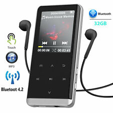 32GB Bluetooth BT OLED Touch MP3 Player Voice Recorder HIFI Sport Music Speakers