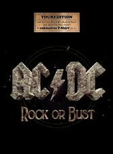 AC/DC - ROCK OR BUST  CD + T-SHIRT (SIZE L) NEW+