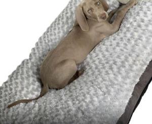 Large Fleece Soft Warm Dog Bed Cushion  Removable Washable Cover Antislip