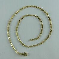 Halskette, Collierkette, Figaro-Kette, 45 cm  in Gold 333/ooo