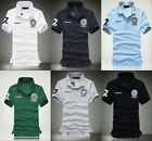 Fashion Men's Fitted V-Neck Casual Shirt T-Shirts Tops Short Sleeve Polo Shirts
