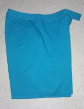 Ladies Size 14 Studio Works Turquoise Shorts, Pre-Owned