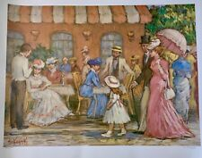AMAZING VICTORIAN ART LIMITED EDITION SIGNED LITHOGRAPH OF PAINTING EVA SIKORSKI