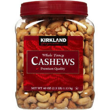 Kirkland Cashews Roasted And Salted Whole Fancy 2.5 Lbs. Premium Quality USA New