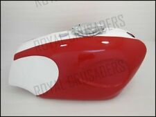 BSA B25 B44 STAR FIRE RED & WHITE PAINTED STEEL PETROL TANK + FILLER CAP + 2TAPS