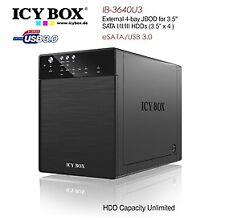Icy Box Ib-3640su3 External 4-bay Jbod System For 3.5 Inch Sata Hdds Hddicy3640s