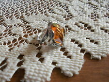Silpada R2288 Beehive Amber Swarovski Crystal & Sterling Silver Ring Size 6