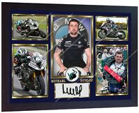 Michael Dunlop photo print signed autograph Framed