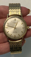 Vintage LONGINES ADMIRAL 1200 AUTOMATIC 10K GF Mens Watch S/Steel Stretch Band