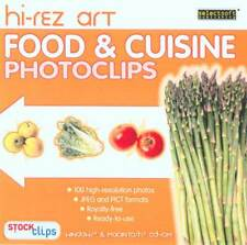 Food & Cuisine Photoclips - Hi-Rez Art - Brand New - Royality Free - PC & Mac