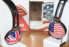 Sound Lab Stereo Over Ear Headphones Union Jack Flag /Stars and Stripes