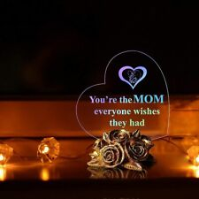 Valentines Day Gift For Mother LED Light Heart Souvenir Mom Birthday Present NEW