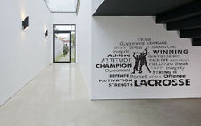 Wall Room Decor Art Vinyl Sticker Mural Decal Lacroosse Lax Racket Poster SA198