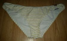 Gorgous white gold striped H&M bikini bottoms size 14
