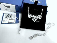 Swarovski Carol Necklace, Heart-Shaped Clear Crystal Authentic MIB 5142737