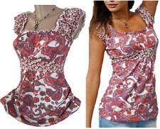 Ethno Paisley Carmen-Top T-Shirt Größen 36/38-40/42-44/46 Neu 942600