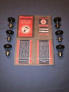 Vintage Trippe Auto Light Bulbs Packard Pierce Arrow Chrysler Buick Chevy Nash