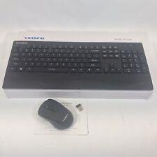 VICTSING Ultra-Thin Wireless Keyboard & Mouse Combo - Black (PC132A)