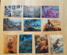 """""""WILD WEST"""" ART OF MORT KUNSTLER COMPLETE 72 CARD SET (1997 COMIC IMAGES)"""
