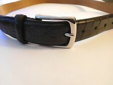Cole Haan Belt Men CHESTNUT    Size 38 Croc Embossed   New Leather