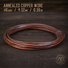 American Bonsai #6 AWG (4.12mm) Annealed Copper Bonsai Training Wire - 25 ft