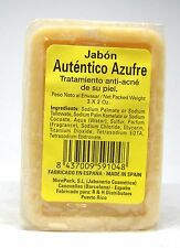 Jabon Autentico Azufre 3 Bar of 2oz each (1pack) New Sealed