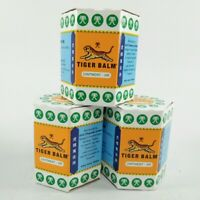 3x30G Tiger Balm Red White Thai Herb Ointment Aches Pains Relief Massage Rub