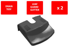 2 X DRAIN COVER - PLASTIC - DRAIN TIDY - LEAVES - BLACK - GUARD GUTTER - STRONG