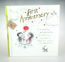 on our First Anniversary. Gorgeous Cute Husband or Wife 1st Anniversary card.