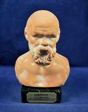 Socrates ceramic sculpture bust Ancient Greek philosopher artifact