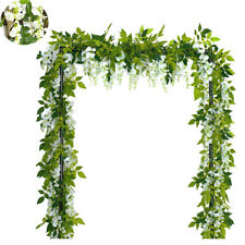 Outdoor/Home Trailing Flower 7FT Artificial Wisteria Vine Garland Plants Foliage