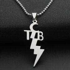 Titanium Steel Elvis Presley TCB  Pendant Necklace Silver Plated Chain