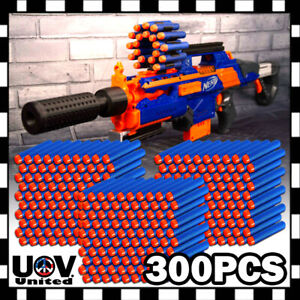 300PCS Blue Refill Foam Bullet Darts Ammo for N-strike Elite Blaster toy Gun
