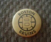 VINTAGE 1960s BOSTON BRUINS    1 1/4 INCH STICK PIN BUTTON.