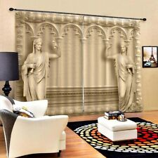1pc Curtain Printing Arch Embossment Drape Curtain for Hotel Living Room Home