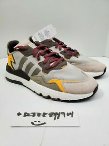 "Adidas Nite Jogger Men's Size 10 ""Clear Granite/Brown/Solar Gold"" FZ1959 Running"