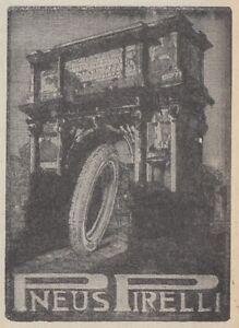 Z2704 Pneus Pirelli - Illustration - Advertising D'Epoca - 1923 Old Advertising