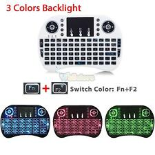 Mini 3 Colors Backlit i8 2.4GHz Wireless Keyboard Touchpad for TV Box Android PC