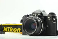 【N MINT】 Nikon FE Black 35mm SLR Camera Body + Ai Nikkor 50mm F/2 Lens JAPAN