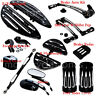F&R Driver Floorboard+Heel Toe Shift Lever+Linkage Pedal Set For Harley Touring