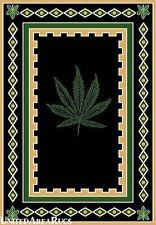 5x7  Area  Rug  Mary Jane  Leaf   Weed  Marijuana  Plant  Carpet  Design  NEW