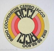 ADESIVO RADIO Vecchio / Old Sticker _RADIO COOPERATIVA CENTRO LECCO (cm 11)