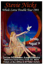 Rock: Stevie Nicks * Whole Lotta Trouble * Tour Poster at Irvine Meadows 1991