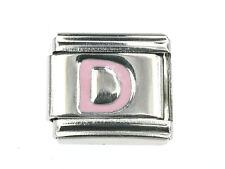 """Lettera """"D"""" modulo Italian charms in rosa adatto per NOMINATION NUOVO"""
