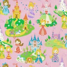 Fat Quarter Once Upon A Time Castles Princesses Quilting Fabric  Nutex