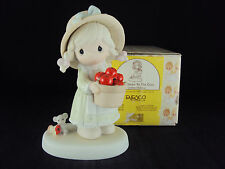 """Precious Moments Figurine, #261378, """"Happiness To The Core"""", Heart Mark"""