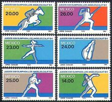 MEXICO 1984 Giochi Olimpici/SPORT/OLIMPIADI/Cavalli/Scherma/Boxe Set 6 V (n34242)