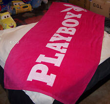 Playboy Logo Pink Reversible Printed Velour Beach Towel 86cm x 180cm New