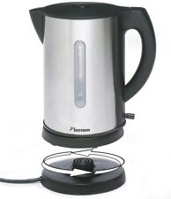 Bestron AWK178 Designer Tee Wasserkocher Edelstahl Kabellos 1,7L 360° 2200W