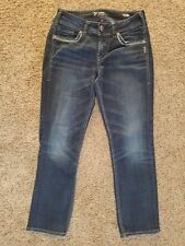 SILVER Suki Mid Rise Capri womens jeans - size - 28 x 27 - GREAT condition